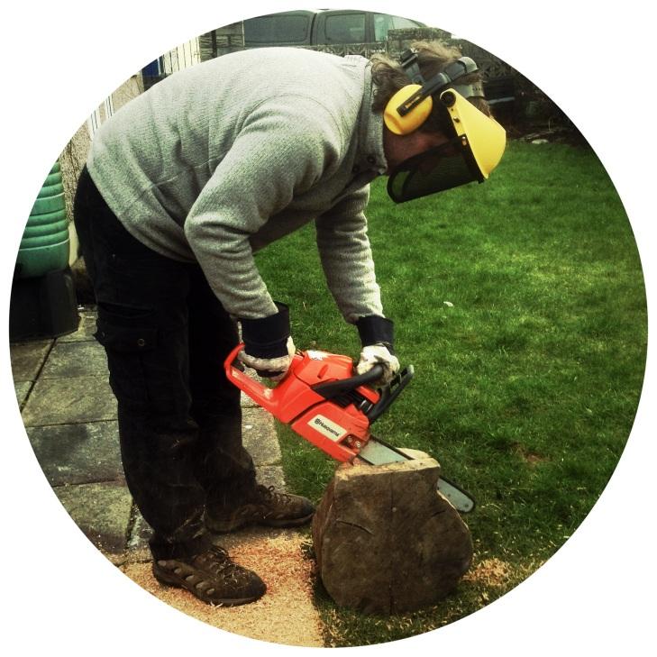 Mister B is a lumberjack